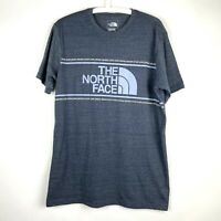 The North Face Mens Large Slim Fit Charcoal Short Sleeve Crew Neck T Shirt Logo