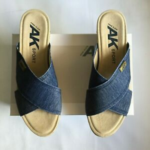 Anne Klein Felisha Blue Slip On Sandals Size 11M brand New with box.