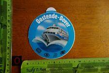 Alter Aufkleber Schiff Fähre Boot Sealink Bahn OOSTENDE-DOVER (blau)