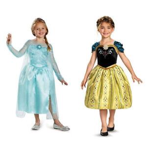 Girls Dress Costume Princess Elsa Anna Cosplay Birthday Party size 2-10 years