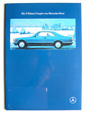 Prospekt Mercedes C 126 - 420 SEC, 500 SEC, 560 SEC, 7.1989, 40 Seiten
