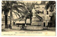 CPA 06 Alpes Maritimes Cannes Statue de Lord Brougham animé