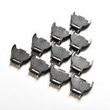 10PCS CR2032 2032 3V Cell Coin Battery Socket Holder Case CE6  TO
