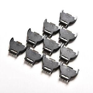 10X Button Cell Battery Vertical Socket Holder Case Box for CR2032 CR2025 3V  mi