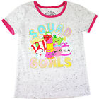Girls SHOPKINS tshirt top short sleeve T-shirt clothing size 4-14 gorgeous new