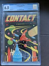 Contact Comics #12 Classic L.B. Cole Sci-Fi Cover Art Golden Age 1946 CGC 6.5