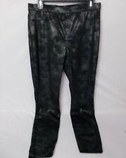 Hue Women's Distressed Metallic Leggings Black Size Large