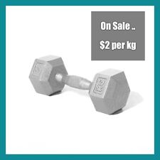 Pair 7.5 Kg CAST IRON Fixed Dumbbell 15 kg Set  Gym  Strength Workout Training