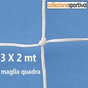 COPPIA RETI DA CALCETTO REGOLAMENTARE 3 x 2mt MAGLIA QUADRA 3mm-6501 EFFEA SPORT