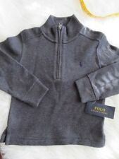 Ralph Lauren RL Kids Boys Sweater Pullover Half Zip Pony Sz 3/3T Solid Gray C8