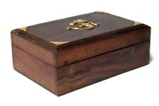 FindSomethingDifferent Tarot Box Wood with Brass Aum Inlay