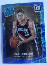 2017-18 Donruss Optic Blue Velocity Rated Rookie Zach Collins #191 TRAIL BLAZERS