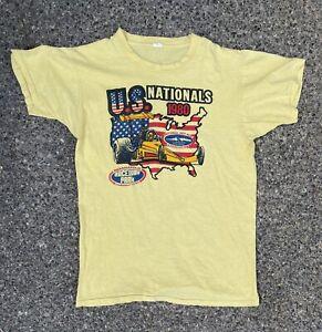 Vintage 80s US Nationals NHRA T shirt vtg tee hot rod Indianapolis drag racing