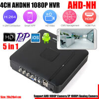 Security 5-IN-1 CCTV 4CH/8CH AHD CVI TVI DVR NVR Hybrid Realtime Video Recorder