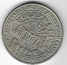Hollywood Riverboat Casino $1.00 Gaming Token Aurora Illinois 1993