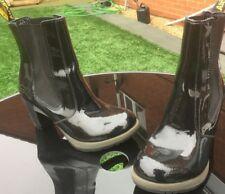 Dr Martens Darla black patent leather boots UK 8 EU 42