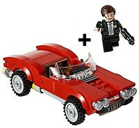 RARE LEGO 76077 AGENT COULSON MINIFIGURE & LOLA CAR BUILD ONLY - MARVEL SHEILD