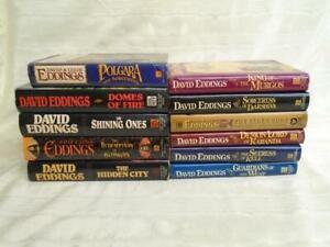 Lot of 11 DAVID EDDINGS Hardcover Books