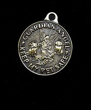Guardian Angel Keep My Pet Safe Medal Tag Collar Charm - Benefits Rescue