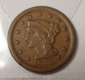 United States Large Cent 1853  WCA # A013