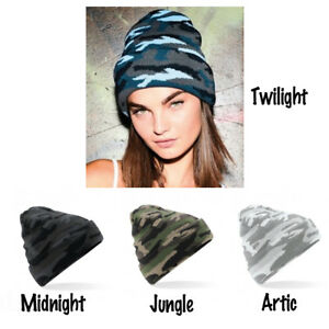 Adult Camoflage Army Winter Knitted Beanie Camo Urban Military Camoflauge cap