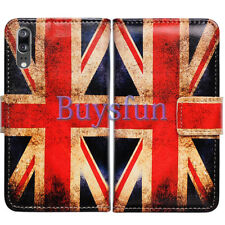 Bcov Retro Union Jack Flag Leather Wallet Cover Case For Huawei P20