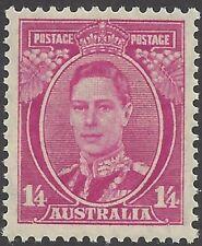 Australia 1938 1/4 MAGENTA KING GEORGE VI Unhinged Mint, SG 175