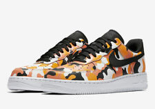 Nike Air Force 1 AF1 Low TEAM ORANGE CAMO BLACK WHITE 823511-800 SZ 12.5 No LID