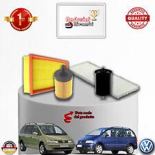 KIT TAGLIANDO 4 FILTRI VW SHARAN 2.8 VR6 150KW 204CV DAL 2005 -> 2010
