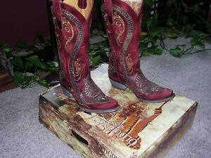 KNOCKOUT NIB $825 OLD GRINGO EMBROIDERED STUDDED SNAKE BOOTS