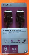 BELKIN 6FT VGA/SVGA VIDEO CABLE - CONNECT PC TO MONITOR