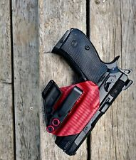 CZ 75 P01 Omega Appendix Minimalist Holster Blood Red Carbon