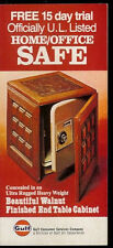 Super Rare Gulf Oil Sentry Walnut End Table Cabinet Safe Promo Brochure