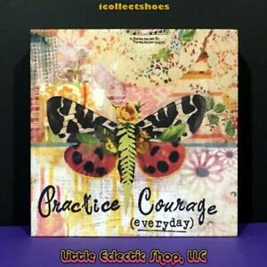 Kelly Rae Roberts 1002720084 PRACTICE COURAGE 6x6 Canvas Wall Art, NEW