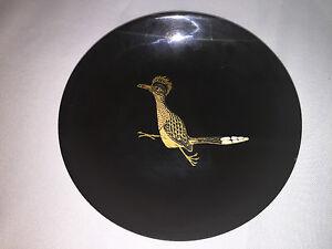 Couroc Vintage Roadrunner Bird Inlay Bowl - Mid Century Modern - Monterey, CA