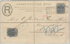52002 - South Africa V.R.I -  REGISTERED STATIONERY COVER to HOLLAND 1901