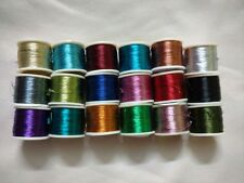 10pcs Polyster Embroidery Zari roll for Machine Embroidery / Silk thread jewelry