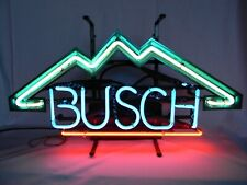 OLD BUSCH BEER NEON BAR LIGHT MOUNTAIN SIGN
