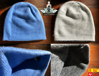Cashmere Beanie Hand Made In Nepal Highest Quality Warm Blue Grey Beanies Style