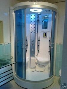 2 Seat Steam Shower Room Cabin Enclosure Cubicle Xavier Brand New