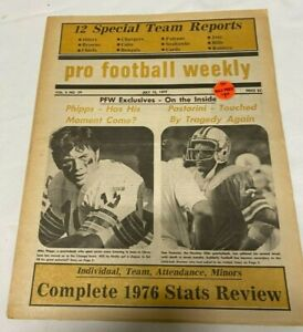 July, 15, 1977 Pro Football Weekly Newspaper---Pastorini---Phipps  VG