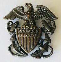 American Eagle Crest Army War Military Soldier Pin Badge Authentic Vintage (C5)