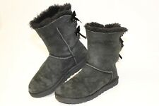 UGG Australia Womens 7 38 Bailey Bow Short Suede Shearling Boots 1002954 ank