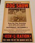 Vintage Devon Dog Show Poster Bulldog Horse Grounds Ken-L-Ration PA Quaker Oats