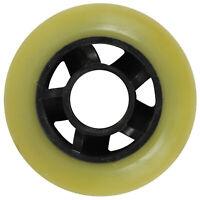 Inline Skate Rollerblade Wheel 72mm 80a Outdoor Yellow/Black 5-Spoke Hub
