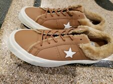 Converse Tan Furry Sneakers 7M/9M NWT