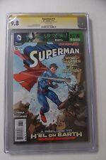 Superman #13 CGC/SS 9.8 Rocafort Sign Doomsday Hel on Earth vs Batman 2016 Movie