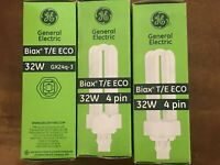 Lot of 6 GE Biax T/E ECO 32W 4 Pin General Electric Compact Fluorescent NEW