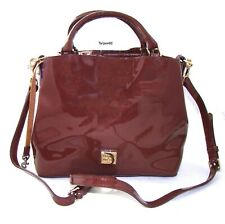 Dooney & Bourke Patent Leather Small Brenna Satchel Bag Purse NEW - COFFEE🎁