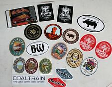 Craft Beer Brewery Company Sticker Lot of 20 - Lost Rhino, Grimm Brothers, Etc